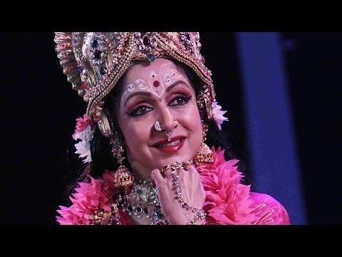 Bollywood Actor Hema Malini At The Kali Puja Function video
