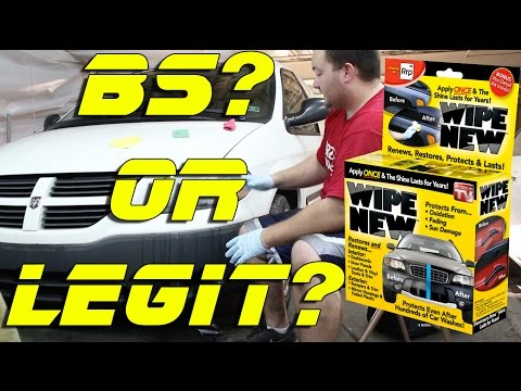 Wipe New Legit or BS? | Head light restoration | Faded Trim Restoration