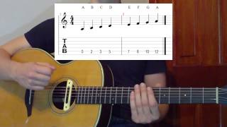Download Lagu Learning All Notes On The Guitar (Easy Method) Gratis STAFABAND