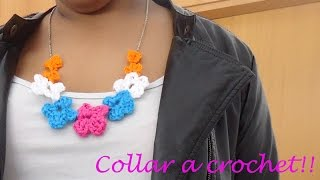 *Como hacer un Collar a crochet*necklace crochet