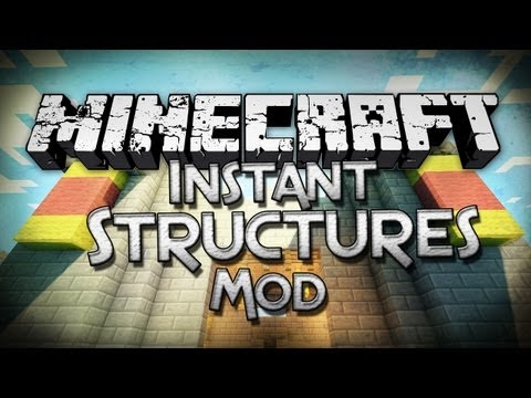 Minecraft Mod Showcase: Instant Structures Mod Pre Built Formations
