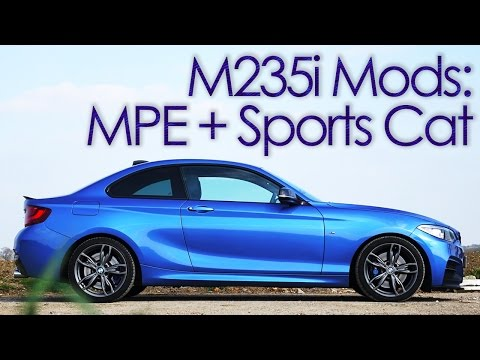 BMW M235i M Performance Exhaust and Cobra Sports Cat! Engine Sound Acceleration Launch - N55 M135i