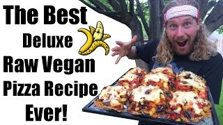 Raw Vegan Pizza Recipe, the Best Ever!