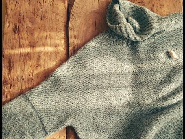 """""""Облачный свитер"""" 3-я часть. Спицами. МК."""