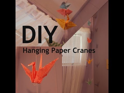 DIY: Hanging Paper Cranes