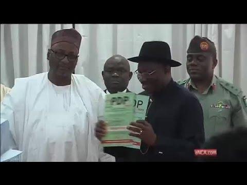 Nigeria's President Goodluck Jonathan announces re-election bid