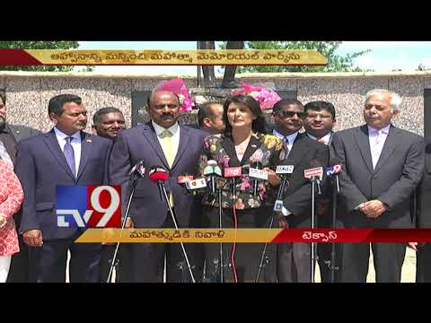 US Ambassador Nikki Haley pays tribute to Mahatma Gandhi - TV9