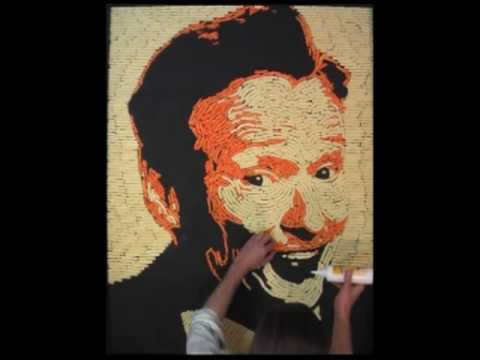 Conan Cheetos Portrait - Cheesy Art - Conan O'Brien