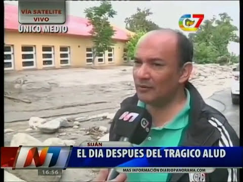 Reporte Canal 7 del alud en El Rodeo, Catamarca