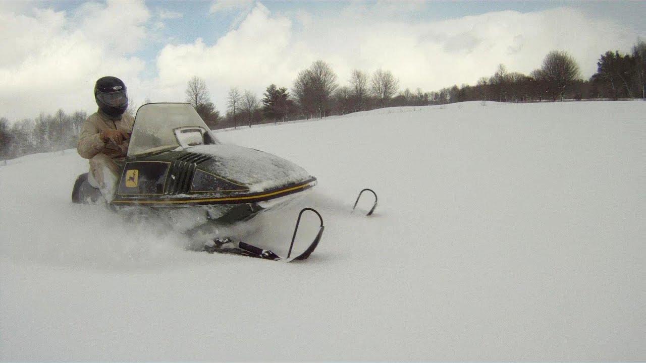 John Deere Cyclone Snowmobiles Youtube