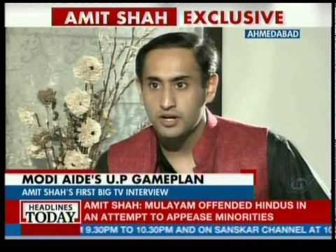 Amit Shah on Headline Today with Rahul Knwal on 21 October 2013
