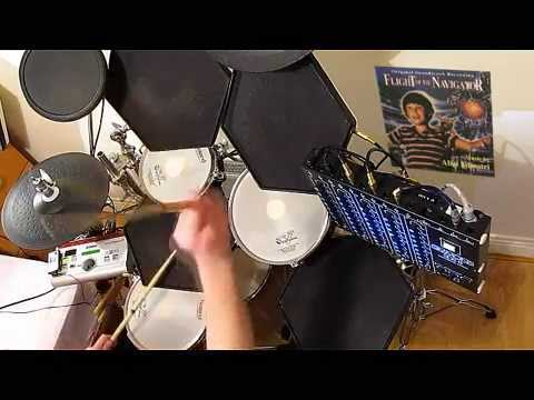 """Alan Silvestri - """"Flight Of The Navigator"""". SIMMONS DRUMS. (Main Title). 🎧 Drum Cover.  ."""
