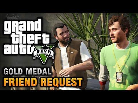 GTA 5 - Mission #8 - Friend Request [100% Gold Medal Walkthrough]