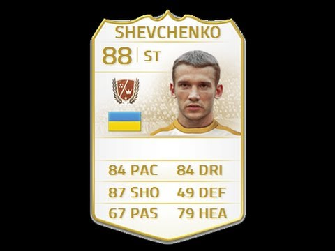 FIFA 14 NEXT GEN LEGEND SHEVCHENKO 88 Player Review & In Game Stats Ultimate Team Xbox One
