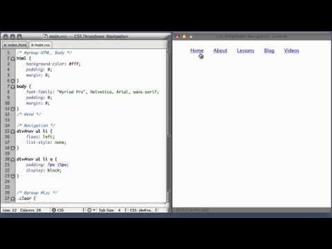 CSS Dropdown Navigation Menu (part 1)