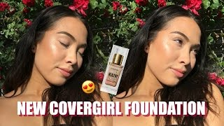 NEW COVERGIRL Vitalist Healthy Elixir Foundation AND Tarte Shape Tape DUPE?!