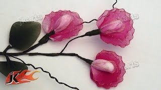 DIY Stocking Flower Sweet Pea - JK Arts 121