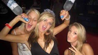 Приколы с пьяными девушками 18+  fun with drunk girls