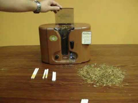 Roll your own cigarettes with a Fresh Choice Electric Cigarette Rolling Machine.