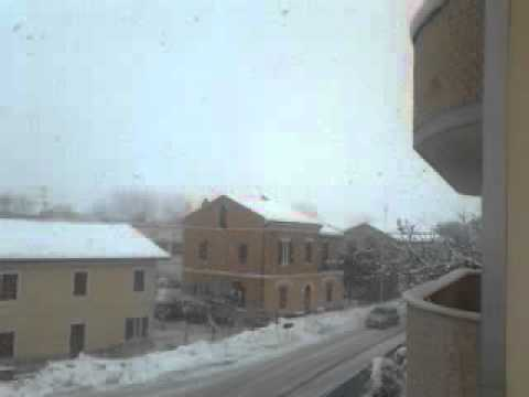Neve a borghetto, monte san vito, AN