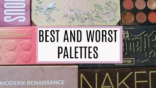TOP 5 BEST & WORST EYESHADOW PALETTES! | DramaticMAC