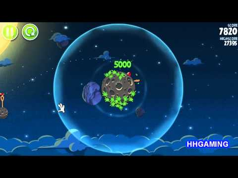 Angry Birds Space - Walkthrough 1-1 3 stars Pig Bang level guide how to get three star levels
