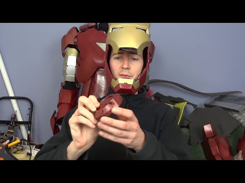 XRobots - Iron Man Cosplay Helmet PART 5, Electronics PART 2, for my life sized suit