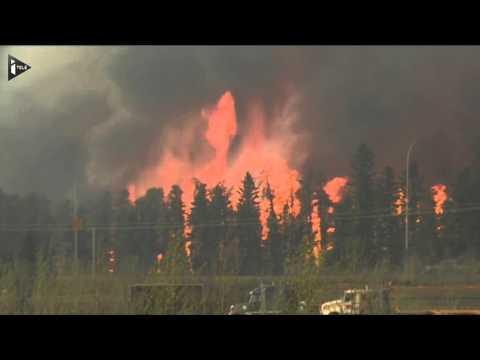 60.000 habitants évacués au Canada après des feux de forêt