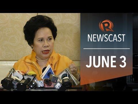 Rappler Newscast: Miriam Santiago, SC on BIR order, Tiananmen anniversary