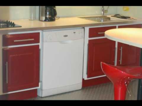 Transforation d 39 une cuisine en moins d 39 une semaine youtube for Meuble cuisine incorporee