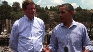 President Obama Tours Fire-Damaged Neighborhood in Colorado Springs