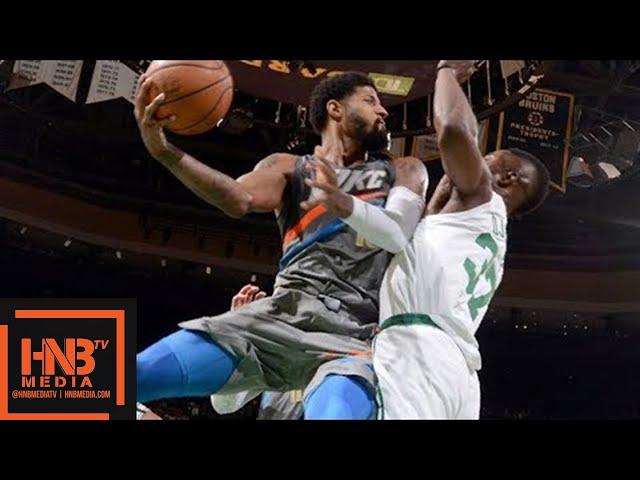 Oklahoma City Thunder vs Boston Celtics Full Game Highlights / March 20 / 2017-18 NBA Season