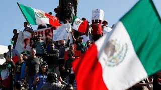 Hundreds of Tijuana Residents Chant 'Out!' at Migrants Camped in City!!!