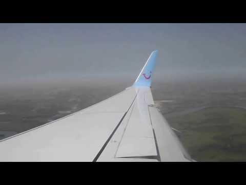 landing at Banjul international airport The Gambia Arkefly-27-12-13