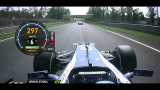 F1 2012 Bruno Senna vs Nico Rosberg Italian GP