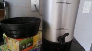 How to make 42 CUPS OF TEA in one shot. REVIEW  on Hamilton Beach  Coffee/Tea Maker