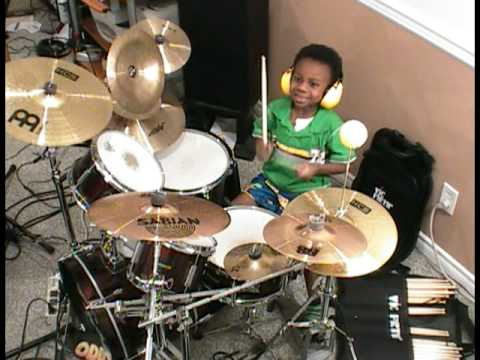 Metallica - Harvester of Sorrow, Drum Cover, 4 Year Old Drummer, Jonah Rocks