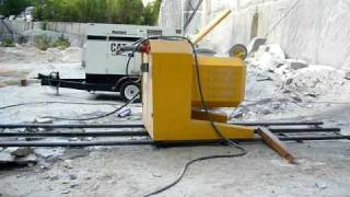 DIAMOND WIRE SAW S850EG CUTTING GRANITE