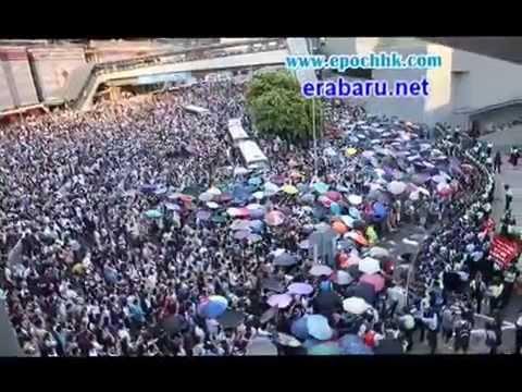 Demo Warga Hongkong Menuntut Leung Chun-ying Mundur