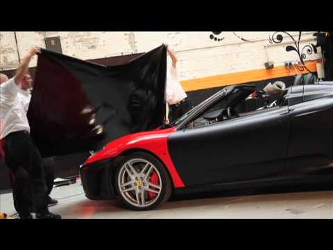 Ferrari F430 Stealth - Wrapped in Matt Black by Creative FX