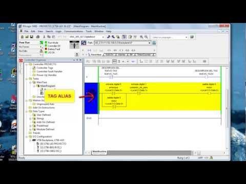 PLC RSLogix 5000 Basico (Tipos datos, Tags Base  Alias) Parte 4 de 8