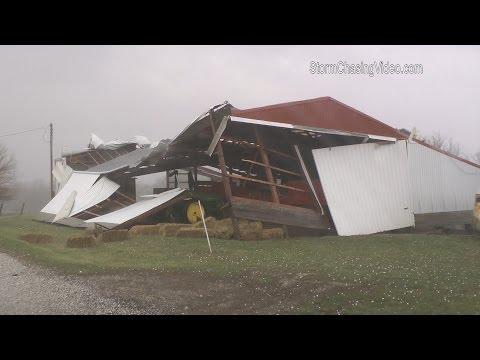 Macomb IL Tornado, Storm Damage & Lightning - 3/15/2016