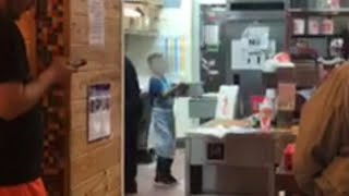 Dad of Kid Seen Working at Popeye's Gets Fired