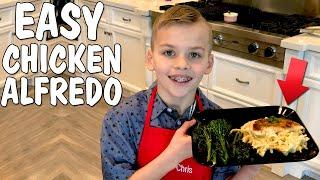 Kid Size Cooking: Best Chicken Fettuccini Alfredo