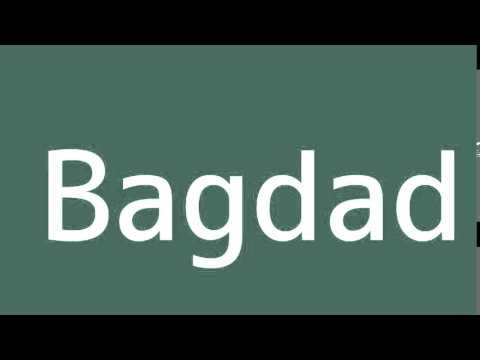 How to say Baghdad in Spanish