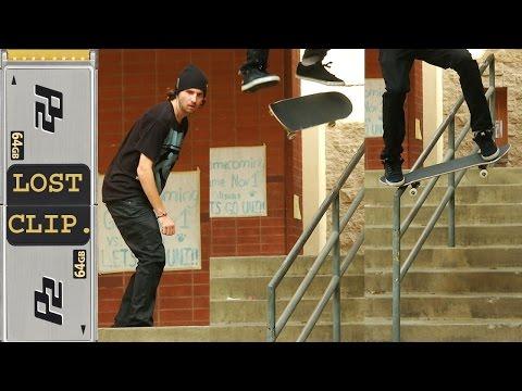 Greg Lutzka Kickflip Noseblunt Lost & Found Skateboarding Clip #61