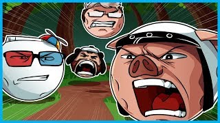 DESTROYING EVERYONE INCLUDING MY OWN DESK!! - Mini Golf Funny Moments! (Golf It Rage)