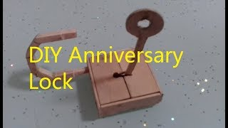 How to make a Working Safe Lock From Popsicle Sticks || DIY Anniversary Lock
