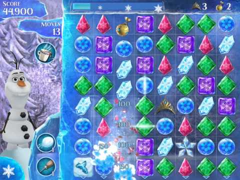 Frozen Free Fall Level 118 Live Action Play Walkthrough