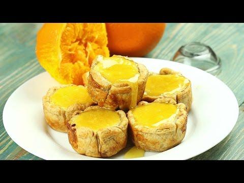 Слоеные корзинки с кремом и карамелью - Рецепты от Со Вкусом